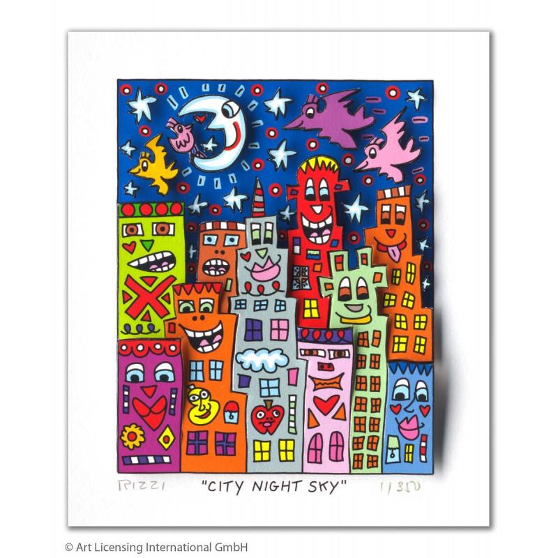 James Rizzi Original 3D Bild City Night Sky kaufen