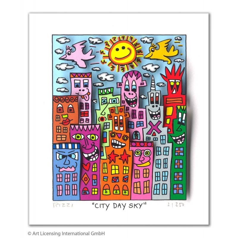 """James Rizzi 3D Bild kaufen """"City Day Sky"""""""