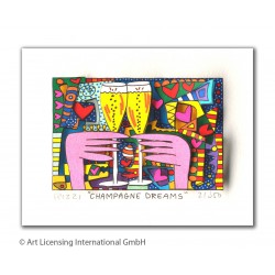 "James Rizzi 3D Original Bild kaufen ""Champagne Dreams"""