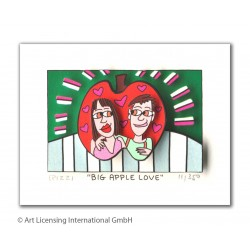 "James Rizzi 3D Original Bild kaufen ""Big apple love"""