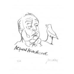 Armin Mueller-Stahl Kunst Bild kaufen Alfred Hitchcock | handsigniertes Original