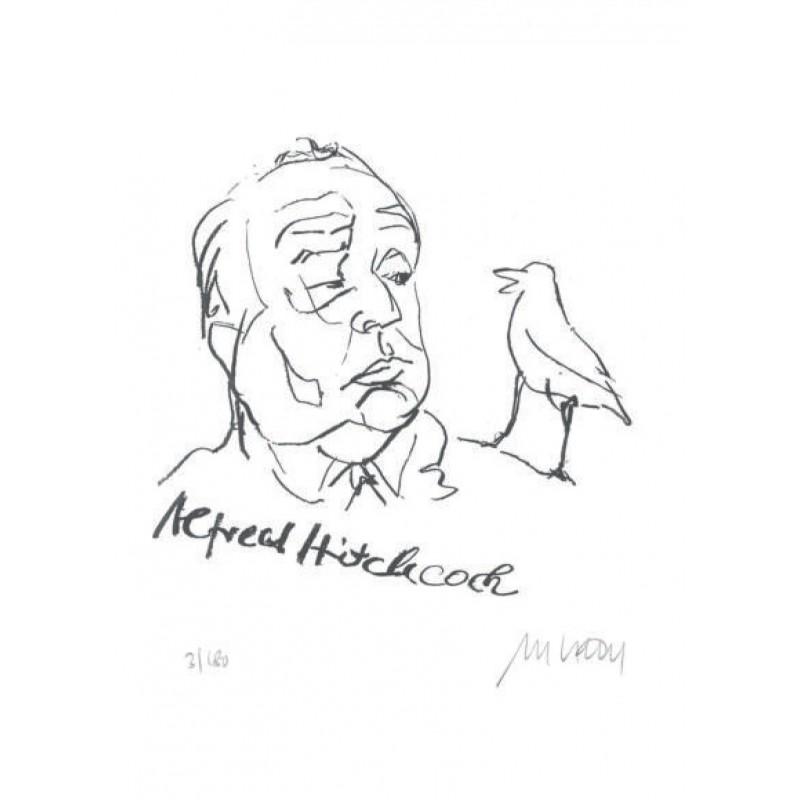 Armin Mueller-Stahl Kunst Bild kaufen Alfred Hitchcock   handsigniertes Original