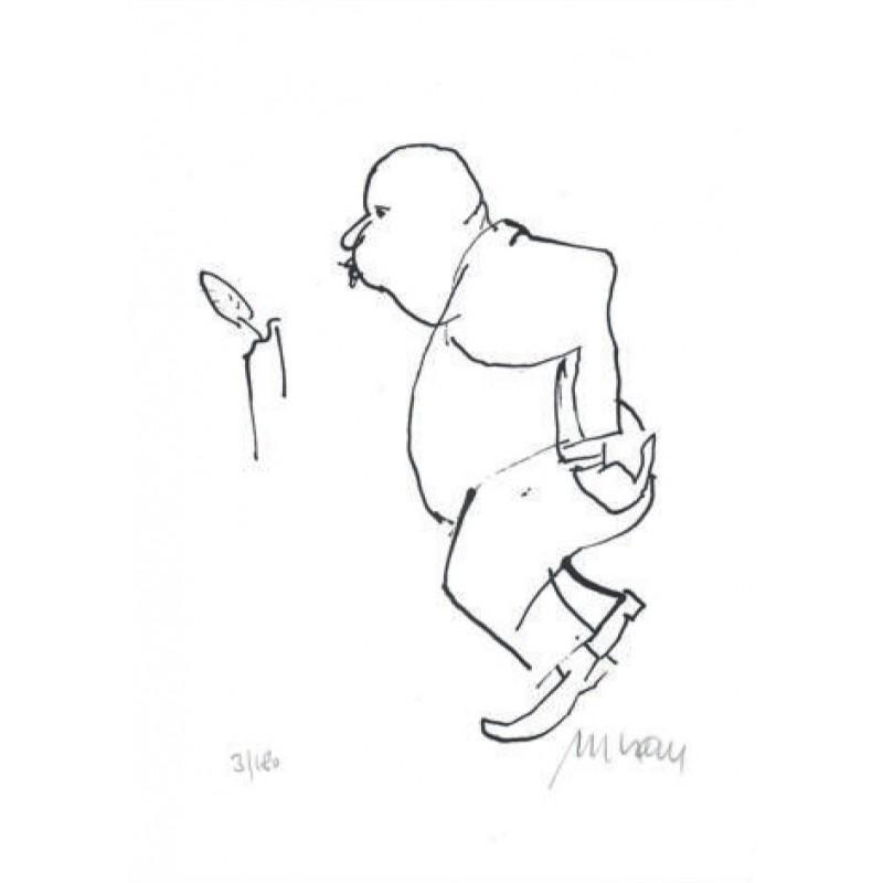 Armin Mueller-Stahl Kunst Bild kaufen Die Kerze | handsigniertes Original