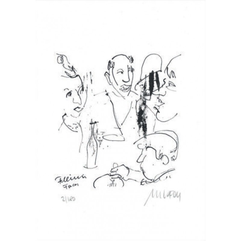 Armin Mueller-Stahl Kunst Bild kaufen Fellinis Faces | handsigniertes Original
