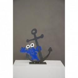 """Original Metall Skulptur von Patrick Preller """"Anker"""" kaufen Sie Kunst Skulpturen des beliebten deutschen Künstlers mit Expertise"""