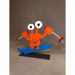 "Original Metall Skulptur von Patrick Preller ""Skifahrer"