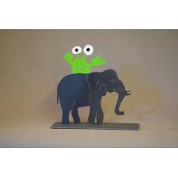 Elefant mit Monster |...