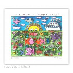 "James Rizzi 3D Bild kaufen ""See You On The Beautiful Sea"""