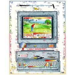"""Original Bild vom Künstler Leslie G. Hunt """"Computergolf"""" mit oder ohne Rahmen kaufen"""