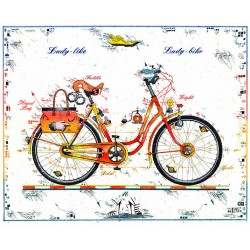 """Original Bild vom Künstler Leslie G. Hunt """"Lady Bike - Lady Like"""" mit oder ohne Rahmen kaufen"""