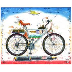 """Original Bild vom Künstler Leslie G. Hunt """"Mountain Bike - Business Like"""" mit oder ohne Rahmen kaufen"""