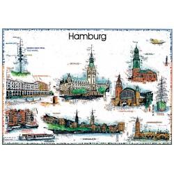 """Original Bild vom Künstler Leslie G. Hunt """"Hamburg"""" mit oder ohne Rahmen kaufen"""