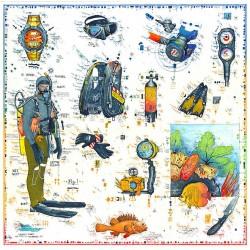 """Original Bild vom Künstler Leslie G. Hunt """"Abenteuer Tauchen"""" mit oder ohne Rahmen kaufen"""