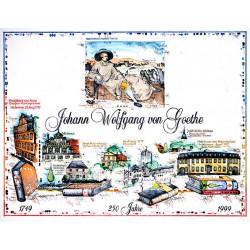 """Original Bild vom Künstler Leslie G. Hunt """"250 Jahre Johann Wolfgang von Goethe"""" mit oder ohne Rahmen kaufen"""