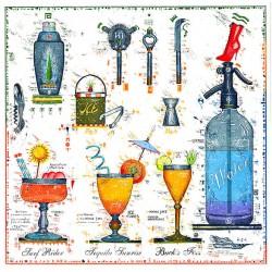 """Original Bild vom Künstler Leslie G. Hunt """"Cocktail Bar"""" mit oder ohne Rahmen kaufen"""