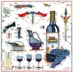 """Original Bild vom Künstler Leslie G. Hunt """"Für den Weinliebhaber"""" mit oder ohne Rahmen kaufen"""