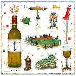 """Original Bild vom Künstler Leslie G. Hunt """"Für den Weinliebhaber II"""" mit oder ohne Rahmen kaufen"""