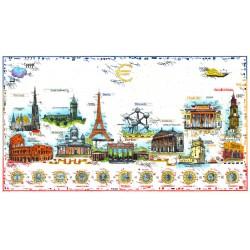"""Original Bild vom Künstler Leslie G. Hunt """"Euro-Current-Cities"""" mit oder ohne Rahmen kaufen"""