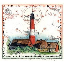"""Original Bild vom Künstler Leslie G. Hunt """"Leuchtturm"""" mit oder ohne Rahmen kaufen"""