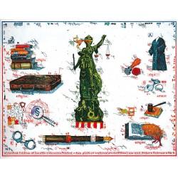 """Original Bild vom Künstler Leslie G. Hunt """"Law and Order"""" mit oder ohne Rahmen kaufen"""