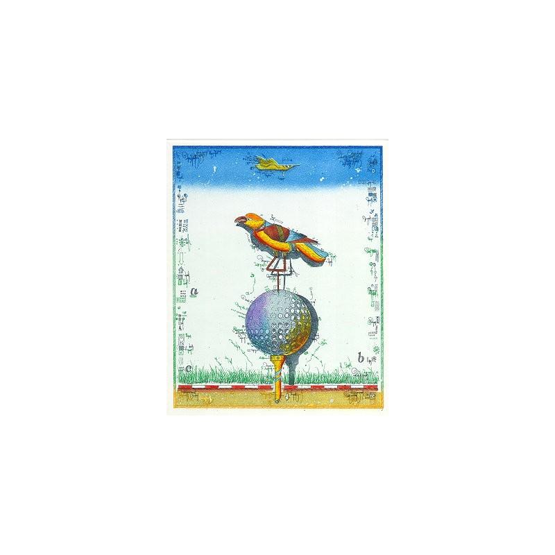 """Original Bild vom Künstler Leslie G. Hunt """"Birdie"""" mit oder ohne Rahmen kaufen"""