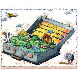 """Original Bild vom Künstler Leslie G. Hunt """"Golfomatengepäck"""" mit oder ohne Rahmen kaufen"""