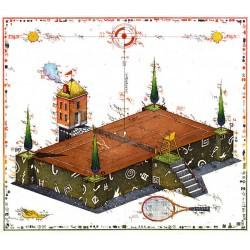 """Original Bild vom Künstler Leslie G. Hunt """"Center Court"""" mit oder ohne Rahmen kaufen"""