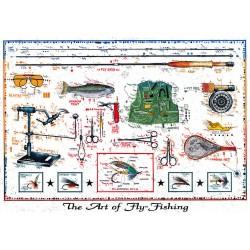 """Original Bild vom Künstler Leslie G. Hunt """"The Art of Fly Fishing"""" mit oder ohne Rahmen kaufen"""