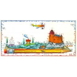 """Original Bild vom Künstler Leslie G. Hunt """"Reisezeichner"""" mit oder ohne Rahmen kaufen"""