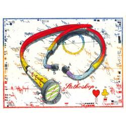 """Original Bild vom Künstler Leslie G. Hunt """"Stethoskop"""" mit oder ohne Rahmen kaufen"""
