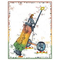 """Original Bild vom Künstler Leslie G. Hunt """"Caddy's Luck"""" mit oder ohne Rahmen kaufen"""