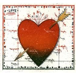"""Original Bild vom Künstler Leslie G. Hunt """"Love Note Herz"""" mit oder ohne Rahmen kaufen"""