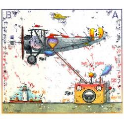 """Original Bild vom Künstler Leslie G. Hunt """"Flying Heart Attraktion"""" mit oder ohne Rahmen kaufen"""