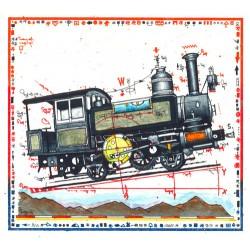 """Original Bild vom Künstler Leslie G. Hunt """"Miniatur Bergbahn"""" mit oder ohne Rahmen kaufen"""