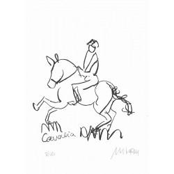 Armin Mueller-Stahl Kunst Bild kaufen Cavalia Horse Show | handsigniertes Original