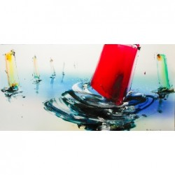 Boote 100x200 Gemälde von
