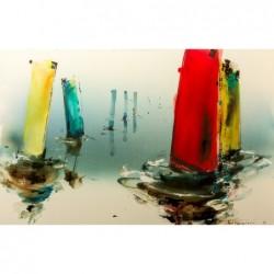 (Boote) Gemälde 90x140cm